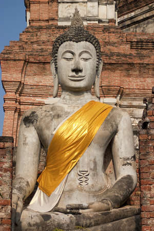 ayuthaya: Buddha Statue in Ayuthaya, Thailand Stock Photo