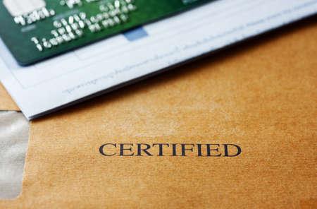 Certificado de tarjeta de cr�dito