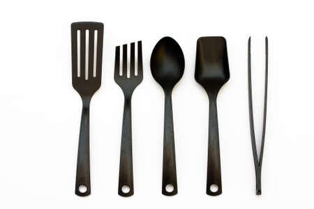 Utensilios de cocina de pl�stico y esp�tula y cucharones