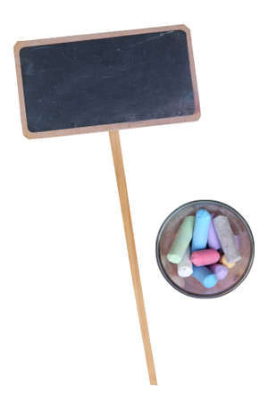 Blank chalkboard with chalk stick in the cup Stock Photo - 12901883
