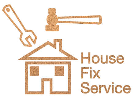 House fix service sign Stock Photo - 12974907