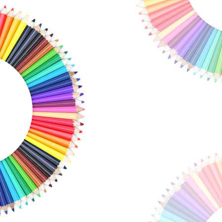 Carta de colores hechas de l�pices de colores