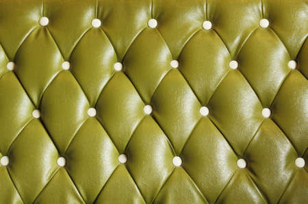 Vintage green leather background with button Stock Photo