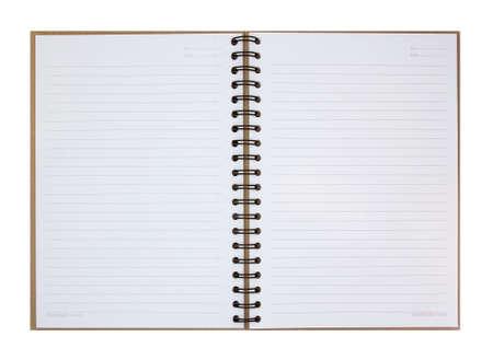 Nota Libro abierto sobre fondo blanco