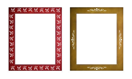 Vintage picture frame with graphic pattern Stock Photo