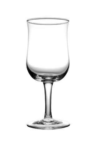 Empty wine glass, isolated on white