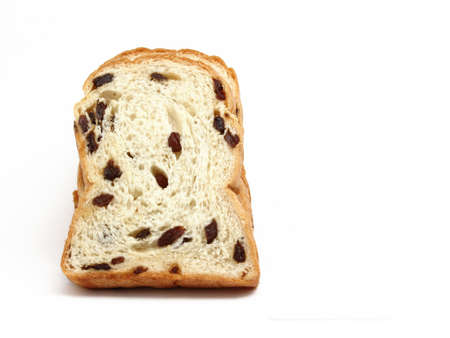 Bread with raisin isolated on white background  Stock Photo