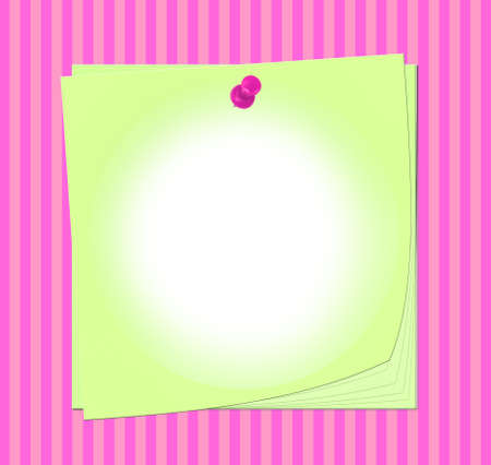 Post-it note with pin on colorful striped background