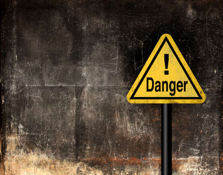 Grunge danger sign
