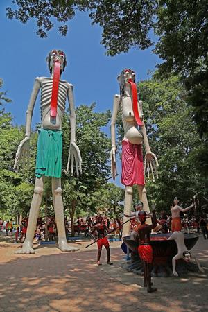taller: Hell garden in Wat Muang,THAILAND Stock Photo