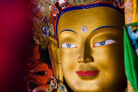 ladakh: Buddha in the temple. Ladakh Stock Photo