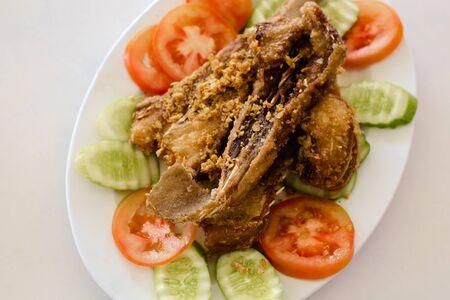 deep fried: Fish deep fried Stock Photo