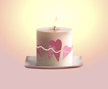 ROMANTIC candle Illustration