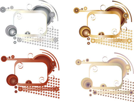 abstract beautiful frames for text modern style Illustration
