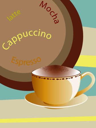 handful: Vector illustration of cup of coffee