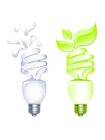 Energy saving bulbs Illustration