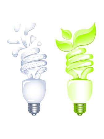 Energy saving bulbs Stock Vector - 4819566