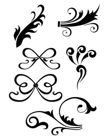 element for design, vector tattoo