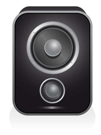 Vector illustration of loudspeaker Vector