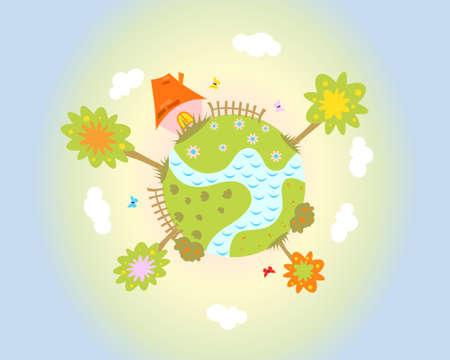 green planet Stock Vector - 4916154