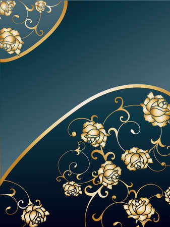Gold rose background Vector