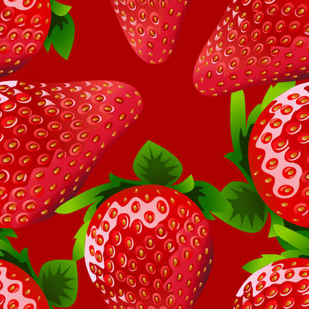 aardbei: naadloze Strawberry Stock Illustratie