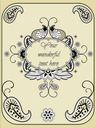 Paisley Vintage frame Vector