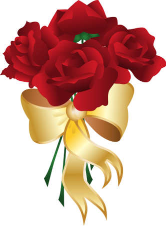 rosebud: Bouquet Rose Illustration