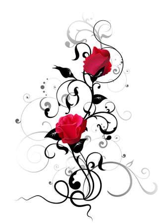 rosas negras: elemento Rosa