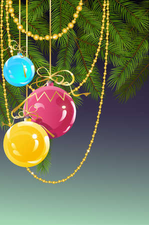 Christmas and New Years background with ball