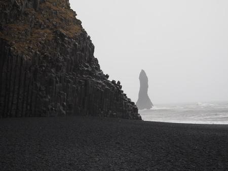 obrero: basalto paisaje marino Foto de archivo