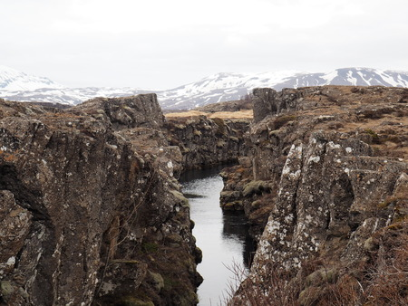stark: Iceland Continental Divide Stock Photo