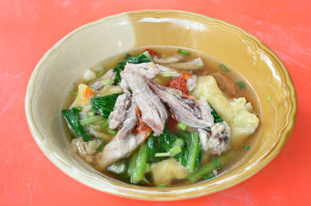 Wanton soup with roasted duck photo