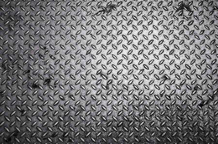 steel texture: Black and white Diamond steel plate background
