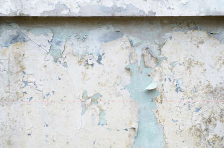 cracking: Old paint on a wall Damaged effect by flood