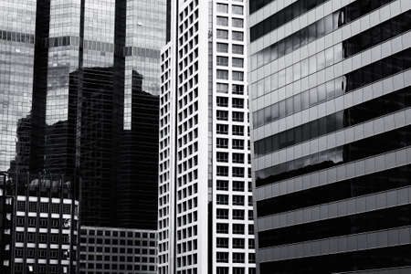 Black and white Abstract of Modern building in bangkok  photo