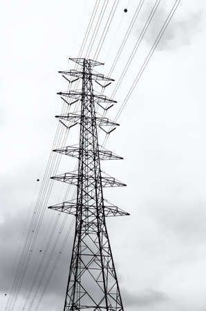 sub station: High voltage AC transmission towers