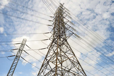 High voltage AC transmission towers