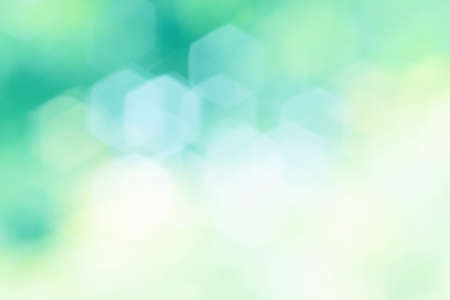 Abstract Blur of green bokeh background Stock Photo