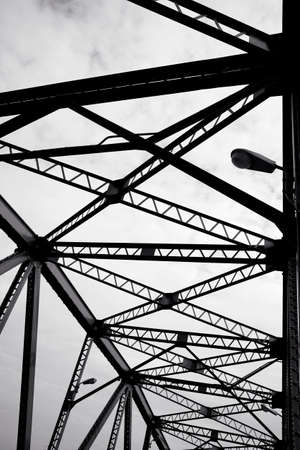 Abstract Metal structural of bridge detail