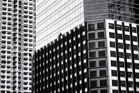 Black and white Abstract of exterior building