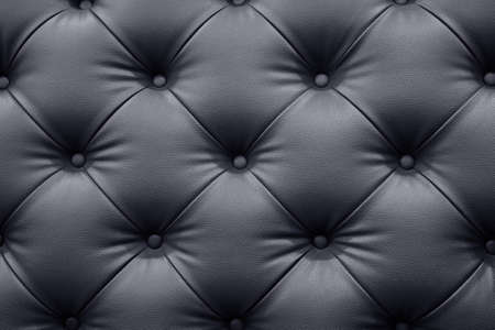 Black leather sofa texture background Banco de Imagens