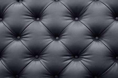 Black leather sofa texture background Foto de archivo