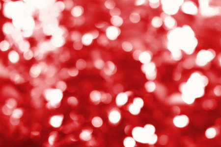 Abstract Blur of red bokeh background