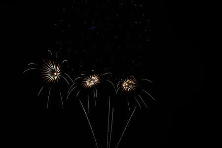 Fireworks light up the sky Stock Photo