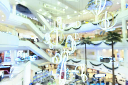 Blurred of shopping mall background
