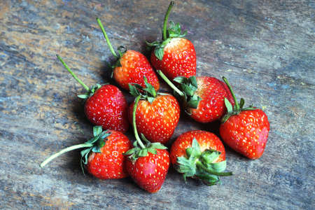 Close up group of fresh strawberry