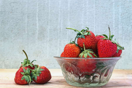 Close up group of fresh strawberry Stock Photo - 52000291