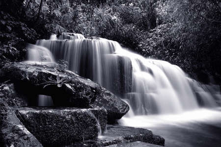 Beautiful waterfall in nature Stockfoto
