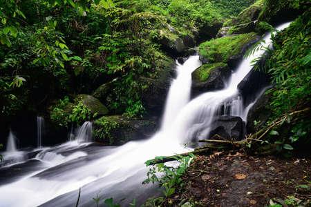 Beautiful waterfall in nature Stock Photo